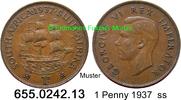1 Penny 1937 Südafrika South Africa *37 KM25 ss  2,50 EUR  zzgl. 4,75 EUR Versand
