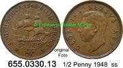 1/2 Penny 1948 Südafrika South Africa *54 KM33 ss  3,50 EUR  zzgl. 4,75 EUR Versand