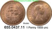 1 Penny 1959 Südafrika South Africa *67 KM46 unc  2,50 EUR  zzgl. 4,75 EUR Versand
