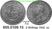 2 Shillings 1932 Südafrika South Africa *33 KM22 ss  11,75 EUR  zzgl. 4,75 EUR Versand