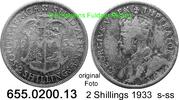 2 Shillings 1933 Südafrika South Africa *33 KM22 s-ss  10,75 EUR  zzgl. 4,75 EUR Versand