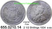 2 1/2 Shillings 1934 Südafrika South Africa *34 KM19.3 s-ss  37,50 EUR  zzgl. 4,75 EUR Versand