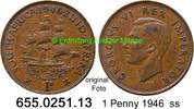 1 Penny 1946 Südafrika South Africa *37 KM25 ss  2,50 EUR  zzgl. 4,75 EUR Versand