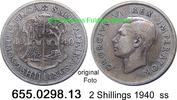 2 Shillings 1940 Südafrika South Africa *41 KM29 ss  13,75 EUR  zzgl. 4,75 EUR Versand