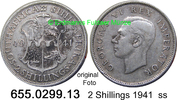 2 Shillings 1941 Südafrika South Africa *41 KM29 ss  10,00 EUR  zzgl. 4,75 EUR Versand