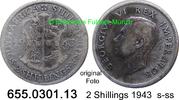 2 Shillings 1943 Südafrika South Africa *41 KM29 s-ss  10,00 EUR  zzgl. 4,75 EUR Versand