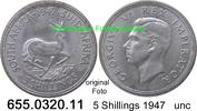 5 Shillings 1947 Südafrika South Africa *43 KM31 Königlicher Besuch unc  24,75 EUR  zzgl. 4,75 EUR Versand