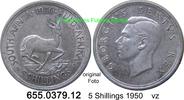 5 Shillings 1950 Südafrika South Africa *52 KM40 Springbock vz  19,75 EUR  zzgl. 4,75 EUR Versand