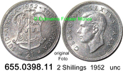 2 Shillings 1952 Südafrika South Africa *59 KM38.2 unc  29,00 EUR  zzgl. 4,75 EUR Versand