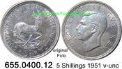5 Shillings 1951 Südafrika South Africa *61 KM40.2 v-unc  18,75 EUR  zzgl. 4,75 EUR Versand
