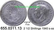 2 1/2 Shillings 1940 Südafrika South Africa *42 KM30 s-ss  15,00 EUR  zzgl. 4,75 EUR Versand
