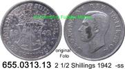 2 1/2 Shillings 1942 Südafrika South Africa *42 KM30 -ss  15,00 EUR  zzgl. 4,75 EUR Versand