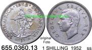 1 SHILLING 1952 Südafrika South Africa *58 KM37.2 ss  7,75 EUR  zzgl. 4,75 EUR Versand