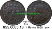 1 Penny 1898 Südafrika South Africa *2 KM2 ss+  9,75 EUR  zzgl. 4,75 EUR Versand