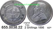 2 Shillings 1896 Südafrika South Africa *6 KM6 vz+  65,00 EUR  zzgl. 6,50 EUR Versand