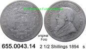 2 1/2 Shillings 1894 Südafrika South Africa *7 KM7 s  35,00 EUR  zzgl. 4,75 EUR Versand