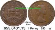 1 Penny 1953 Südafrika South Africa *67 KM46 ss  1,75 EUR  zzgl. 4,75 EUR Versand