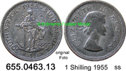 1 Shilling 1955 Südafrika South Africa *70 KM49 ss  3,95 EUR  zzgl. 4,75 EUR Versand