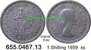 1 Shilling 1959 Südafrika South Africa *70 KM49 ss  3,95 EUR  zzgl. 4,75 EUR Versand
