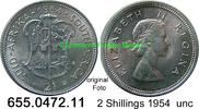 2 Shillings 1954 Südafrika South Africa *71 KM50 unc  22,50 EUR  zzgl. 4,75 EUR Versand
