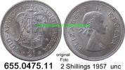2 Shillings 1957 Südafrika South Africa *71 KM50 unc  22,50 EUR  zzgl. 4,75 EUR Versand
