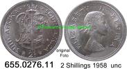 2 Shillings 1958 Südafrika South Africa *71 KM50 unc  22,50 EUR  zzgl. 4,75 EUR Versand