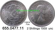 2 Shillings 1959 Südafrika South Africa *71 KM50 unc  22,50 EUR  zzgl. 4,75 EUR Versand