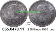 2 Shillings 1960 Südafrika South Africa *71 KM50 unc  22,50 EUR  zzgl. 4,75 EUR Versand