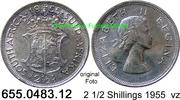 2 1/2 Shillings 1955 Südafrika South Africa *72 KM51 vz  19,00 EUR  zzgl. 4,75 EUR Versand