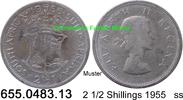 2 1/2 Shillings 1955 Südafrika South Africa *72 KM51 ss  9,75 EUR  zzgl. 4,75 EUR Versand
