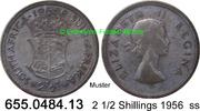 2 1/2 Shillings 1956 Südafrika South Africa *72 KM51 ss  9,75 EUR  zzgl. 4,75 EUR Versand
