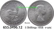 5 Shillings 1958 Südafrika South Africa *73 KM52 v-unc  13,95 EUR  zzgl. 4,75 EUR Versand