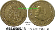 1/2 Cent 1961 Südafrika Republik *77 KM56 ss  1,00 EUR  zzgl. 4,75 EUR Versand