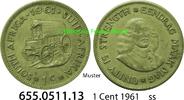 1 Cent 1961 Südafrika Republik *78 KM57 ss  1,00 EUR  zzgl. 4,75 EUR Versand