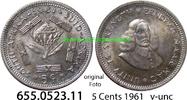 5 Cents 1961 Südafrika Republik *80 KM59 v-unc  2,75 EUR  zzgl. 4,75 EUR Versand