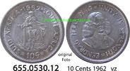 10 Cents 1962 Südafrika Republik *81 KM60 vz  3,75 EUR  zzgl. 4,75 EUR Versand