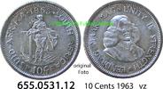 10 Cents 1963 Südafrika Republik *81 KM60 vz  3,75 EUR  zzgl. 4,75 EUR Versand