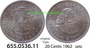 20 Cents 1962 Südafrika Republik *80 KM61 unc  9,00 EUR  zzgl. 4,75 EUR Versand