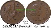 1 Cent 1966 Südafrika Republik *86 KM65.1 englisch ss  0,50 EUR  zzgl. 4,75 EUR Versand