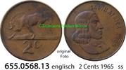 2 Cents 1965 Südafrika Republik *87 KM66.1 englisch ss  1,00 EUR  zzgl. 4,75 EUR Versand