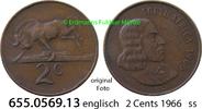 2 Cents 1966 Südafrika Republik *87 KM66.1 englisch ss  1,00 EUR  zzgl. 4,75 EUR Versand