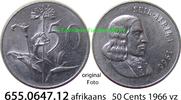 50 Cents 1966 Südafrika Republik *98 KM70.2 afrikaans = Suid vz  4,75 EUR  zzgl. 4,75 EUR Versand