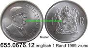 1 Rand 1969 Südafrika Republik *118 KM80.1 englisch Doenges v-unc  11,75 EUR  zzgl. 4,75 EUR Versand