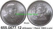 1 Rand 1969 Südafrika Republik *119 KM80.2 afrikaans Doenges v-unc  11,75 EUR  zzgl. 4,75 EUR Versand
