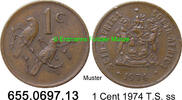 1 Cent 1974 Südafrika Republik *121 KM82  Sperlinge ss  0,50 EUR  zzgl. 4,75 EUR Versand