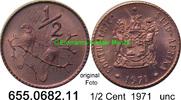 1/2 Cent 1971 Südafrika Republik *120 KM81 Sperlinge unc  0,80 EUR  zzgl. 4,75 EUR Versand