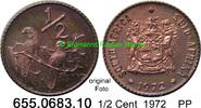 1/2 Cent 1972 Südafrika Republik *120 KM81 Sperlinge PP  2,50 EUR  zzgl. 4,75 EUR Versand