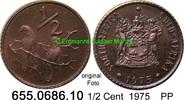 1/2 Cent 1975 Südafrika Republik *120 KM81 Sperlinge PP  2,50 EUR  zzgl. 4,75 EUR Versand