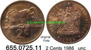 2 Cents 1986 Südafrika Republik *122 KM83 unc  3,00 EUR  zzgl. 4,75 EUR Versand