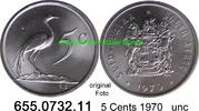 5 Cents 1970 Südafrika Republik *123 KM84 unc  4,25 EUR  zzgl. 4,75 EUR Versand